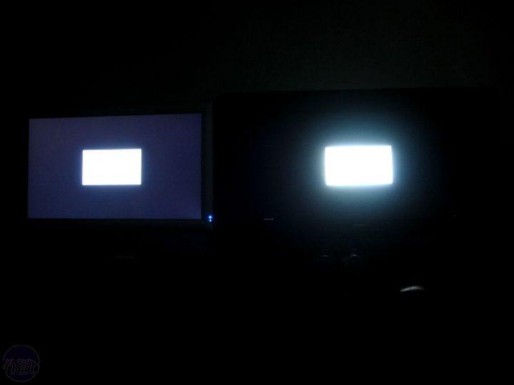 Ejemplo de display SDR y display HDR