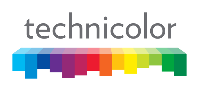 Technicolor logo (gray lettering, white background)